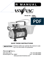 Precision Medical Easy Vac PM60 Suction Pump - User Manual
