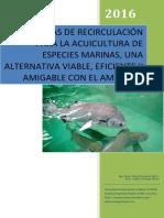 Sistemas de Recirculación Para La Acuicultura de Especies Marinas