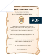 Formulación y Elaboración de Galletas