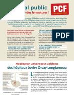 Defense des hopitaux de proximite Essonne