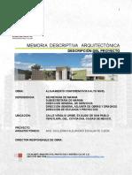 Memoria Descriptiva 041017