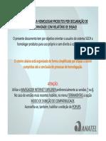 Instruções Para Homologar Produtos