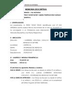 Memoria Descriptiva Nilhanstro Garay Goñaz 190.33 m2 Final
