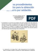 Antiguos Procedimientos Empleados Para La Obtención Del Fe Por Oxidación