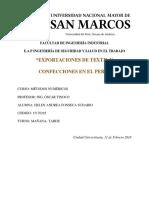 Exportacion de Textil y Confecciones Del Perú- Helen Fonseca
