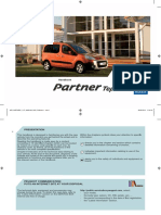 Peugeot Partner Tepee Handbook