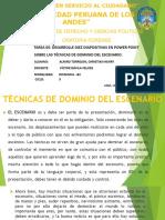 TECNICAS DE DOMINIO DE ESCENARIO