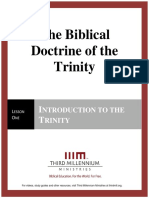 The Biblical Doctrine of the Trinity – Lesson 1 – Forum Manuscript
