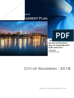 2018 Savannah Tourism Management Plan