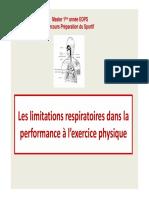 2 - M1 EOPS - Limitations Respiratoires à Lexercice - 2015-2016