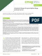 Prescription Costs Study