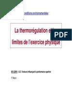 4 -M1 EOPS - La Thermorégulation Et Limites à Lexercice (2015-16).