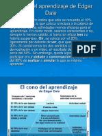 El cono del aprendizaje de Edgar Dale 23102008.ppt