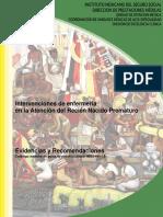 Intervenciones de Enfermerìa en La Atenciòn Del RN Prematuro IMSS