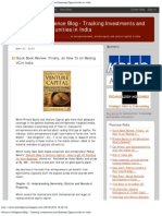 FIRST How To GUIDE  on Raising Venture Capital in India