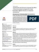 TRANSPLANTE FECAL - Clostridium Difficile