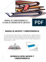 Manual de Correspondencia y Sistema de Ordenación Documental
