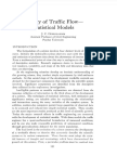 Theory of Traffic Flow - Statistical Models