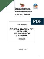 Plan Del Quechua Apurimeño