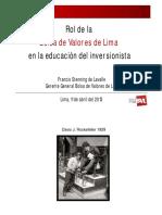 4BVL - La Educación Del Inversor - 2013.04