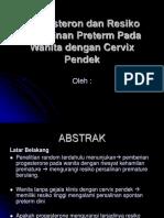 Progesteron Dan Resiko Persalinan Preterm Pada Wanita Dengan