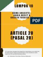 Article 22 Benar