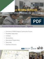 Presentation about Holyoke middle school study: