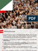 Buzz Politique - 8 Septembre 2010 PDF