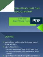 1.4.4.4 - Kecepatan Metabolisme Dan Pengukurannya