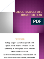 school to adult life transition plan