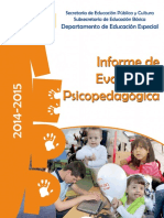 Informe Evaluacion Psicopedagogica 2014 2015