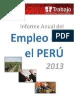 Informe Anual Empleo Enaho 2013