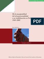 De La Marginalidad de La Homosexualidad a Su Visibilizacion en Xalapa Rene Barffuson BDH UV