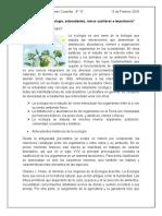 Ecología, antecedentes, ramas auxiliares e importancia
