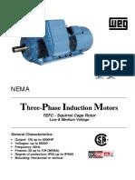 Catálogo - Motores Trifásicos Weg HGF - Nema