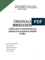 Violencia e Irreflexion Lit Arg II