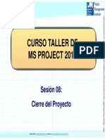 Curso MS Proyect - Sesion 8