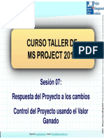 Curso MS Proyect - Sesion 7