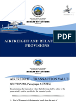 Customs Modernization and Tariff Act Airfreight and Related Provisions
