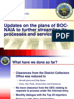 Vision and Plans for BOC-NAIA