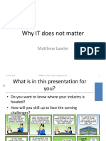 Talk - IT Does Not Matter