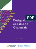 Desigualdades en Salud en Guatemala