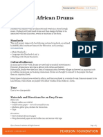 African Drums Craft