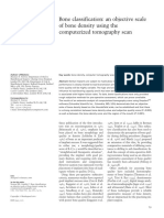 8. Bone Classification an Objective Scale of Bone Density Using the Computerized Tomography Scan