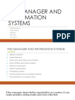The Manager and Information Systems