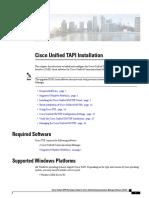 Cisco Unified Tapi Installation