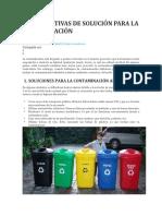 5 Alternativas de Solución Para La Contaminación
