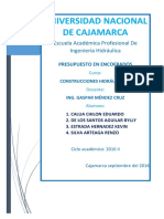 Informe Analisis de Costos Unitarios