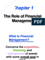 The Role of Financial Management-CH1