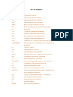 Lista de Acronimos